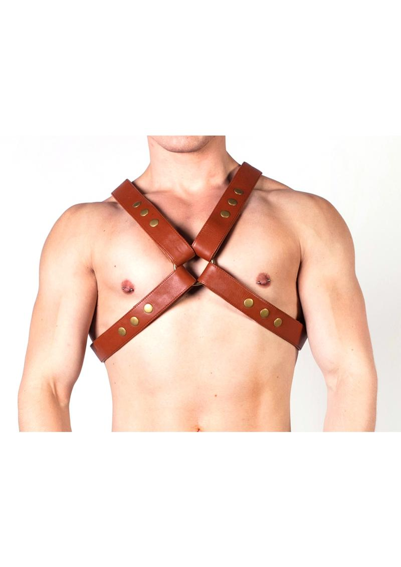 Prowler Red X Harness Brn/brs Md