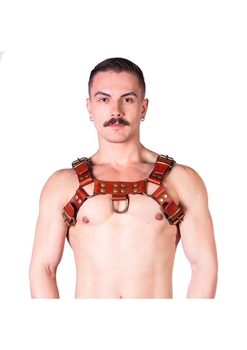 Prowler Red Butch Harness Brn/brs Xl