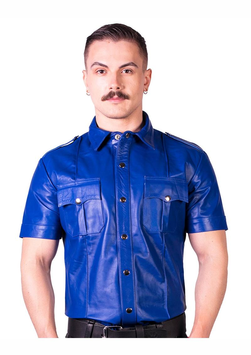 Prowler Red Slim Police Shirt Blu Xs