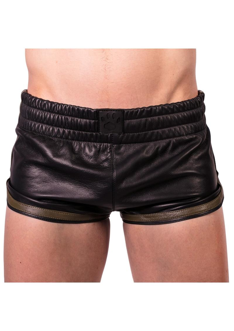 Prowler Red Leather Sport Shorts Grn Lg