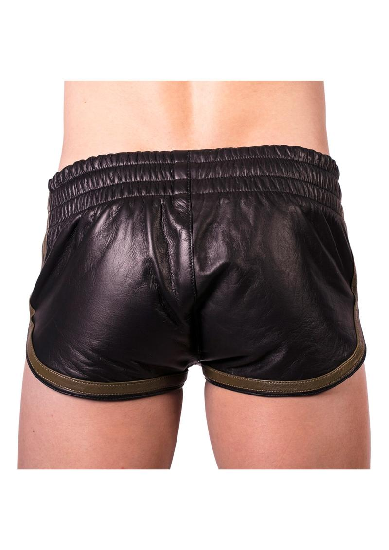 Prowler Red Leather Sport Shorts Grn Md