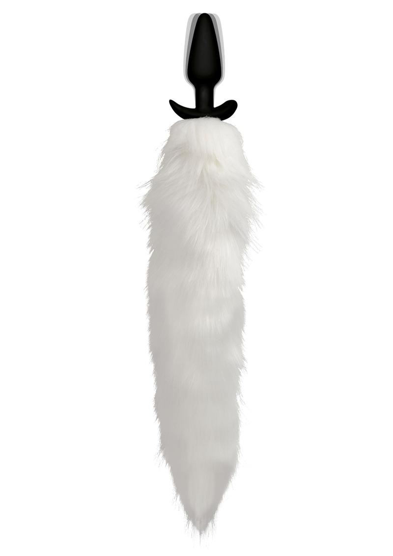 Tailz Vibe White Fox Tail Slender Plug