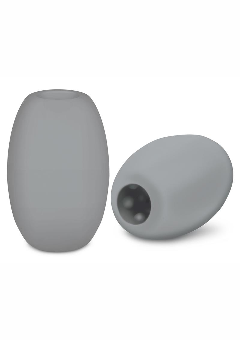 Zolo Squeezable and Textured Mini Bubble Male Masturbator Non Vibrating Gray