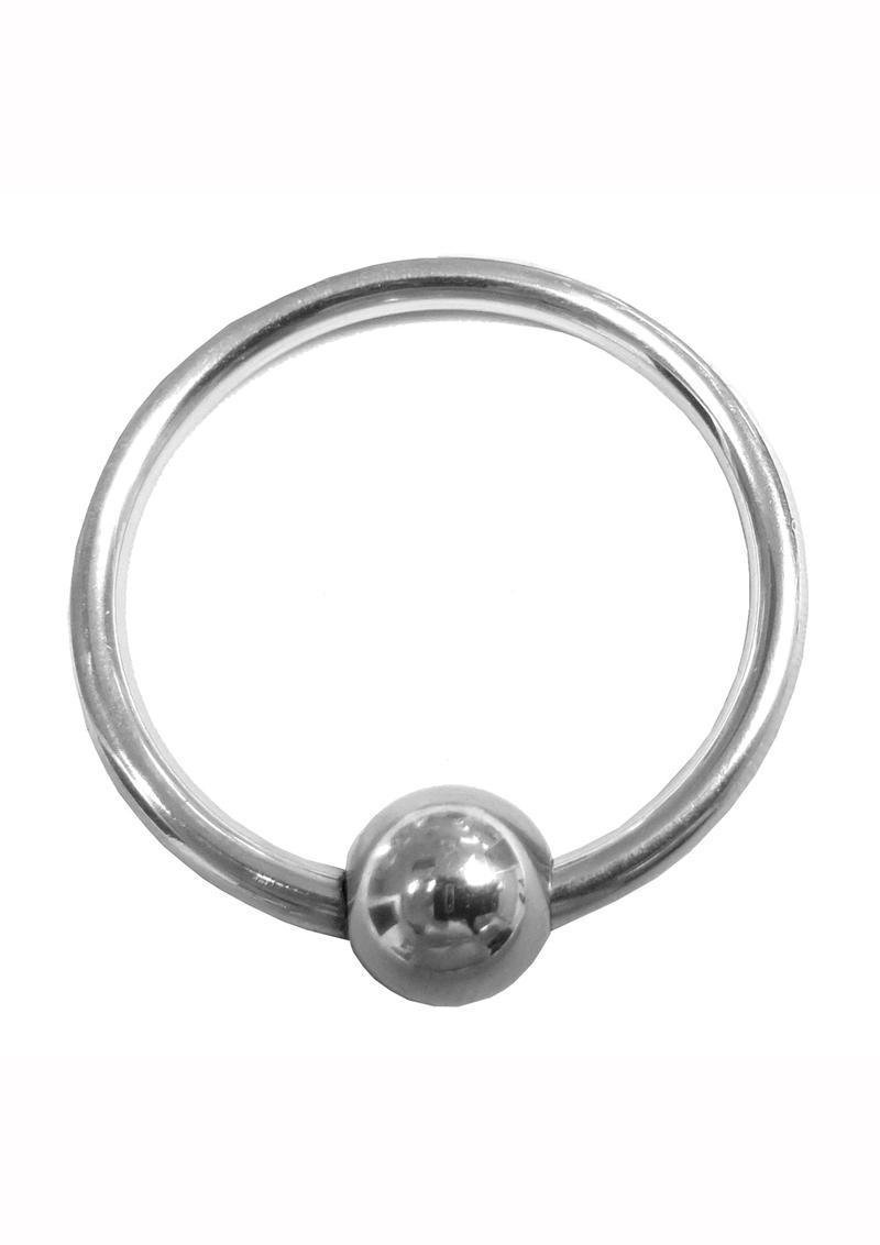 Rouge Stainless Steel Glans Ring With Ball