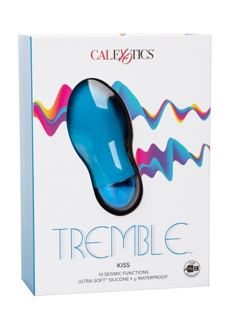 Tremble Kiss Silicone USB Rechargeable Massager Waterproof Blue 4.75 Inches