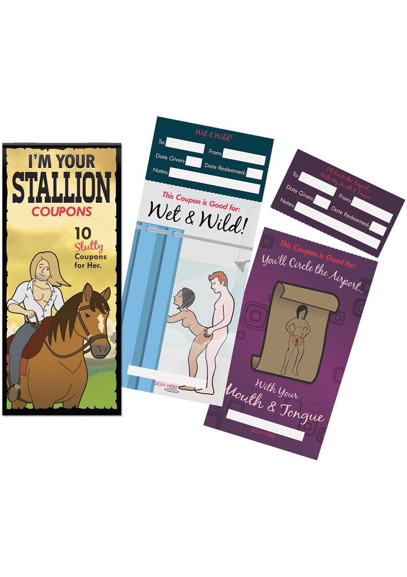 I`m Your Stallion Coupons - 10 Slutty Coupons For Her