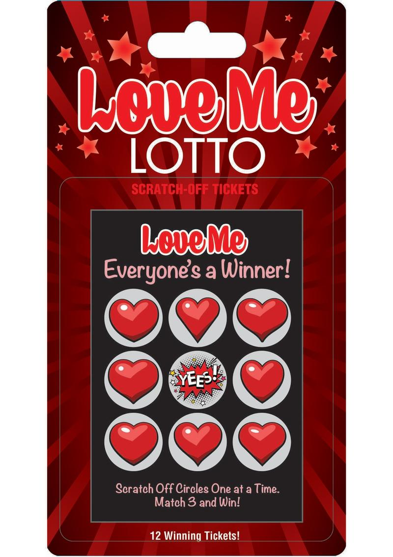 Love Me Lotto Scratch Off Tickets 12 Each Per Pack