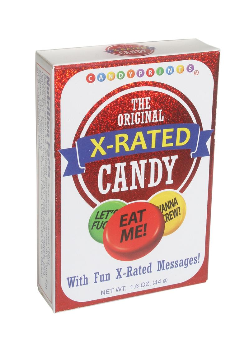 Candy Print The Original X-Rated Candy 24 Boxes Per Counter Display