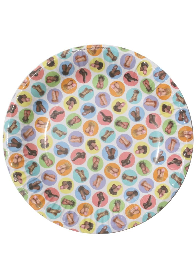 Candy Prints Dirty Dishes Mini Penis Style Paper Plates 7 Inches 8 Each Per Pack