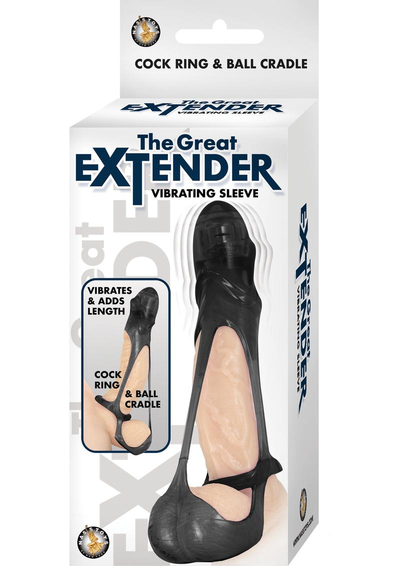 The Great Extender Vibrating Sleeve - Black