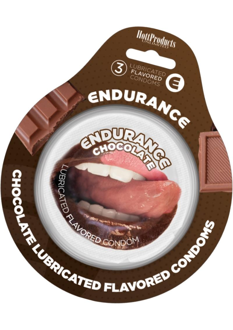 Endurance Condoms Chocolate 3pk