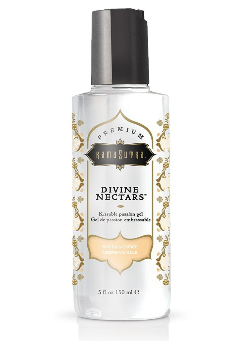 Divine Nectars Kissable Passion Gel Water Based Vanilla Creme 5 Ounces