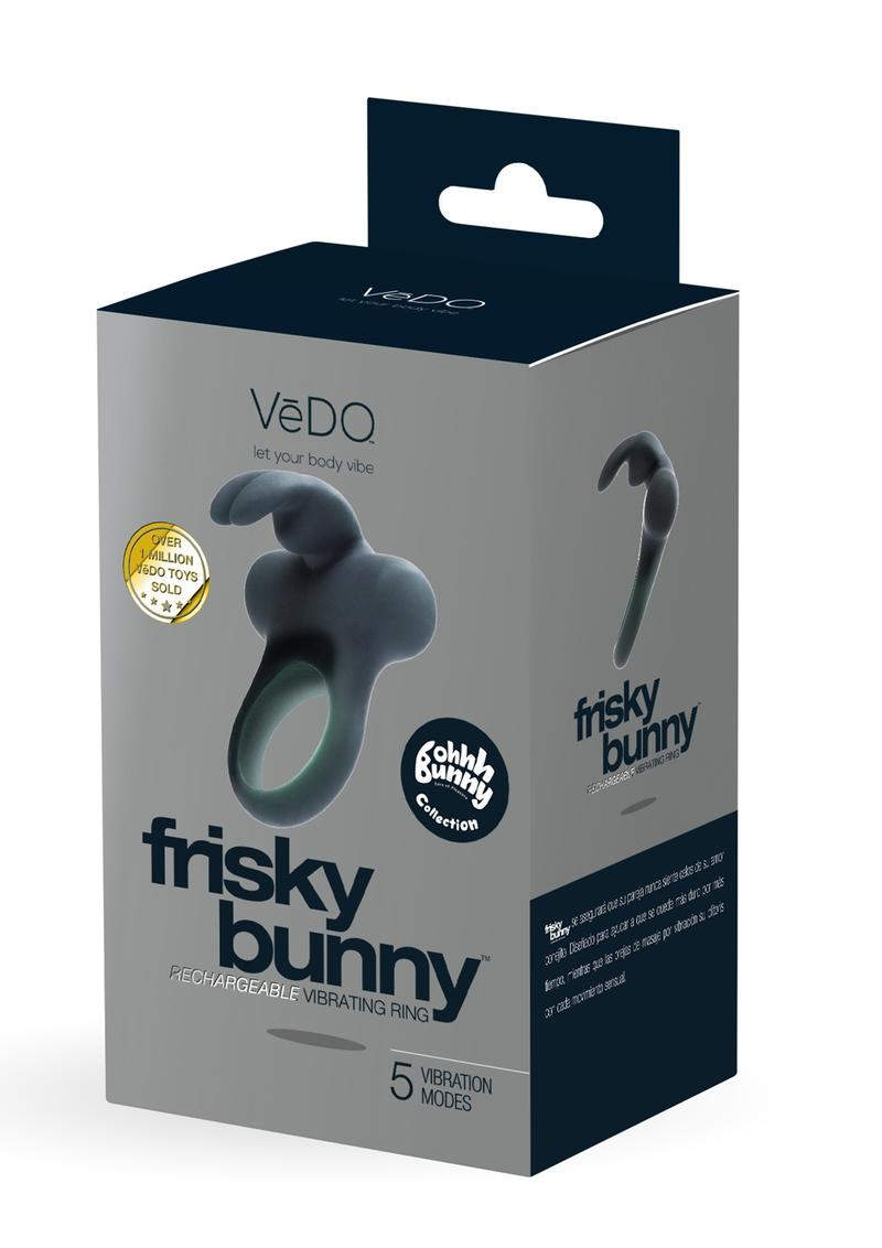 Frisky Bunny Recharge Vibe Ring Black