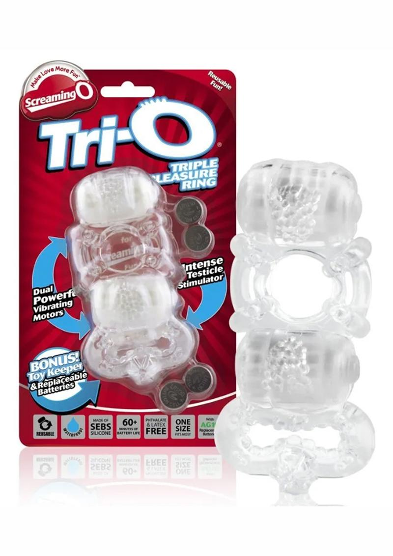 Tri-O Triple Pleasure Ring - Clear
