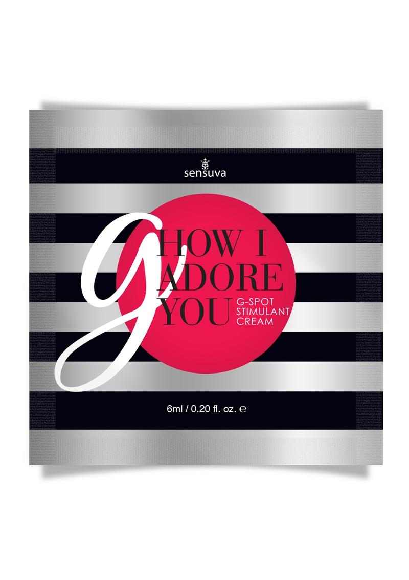 How I Adore You G-Spot Enhancement Cream Single Use Pillow Packet 6ml