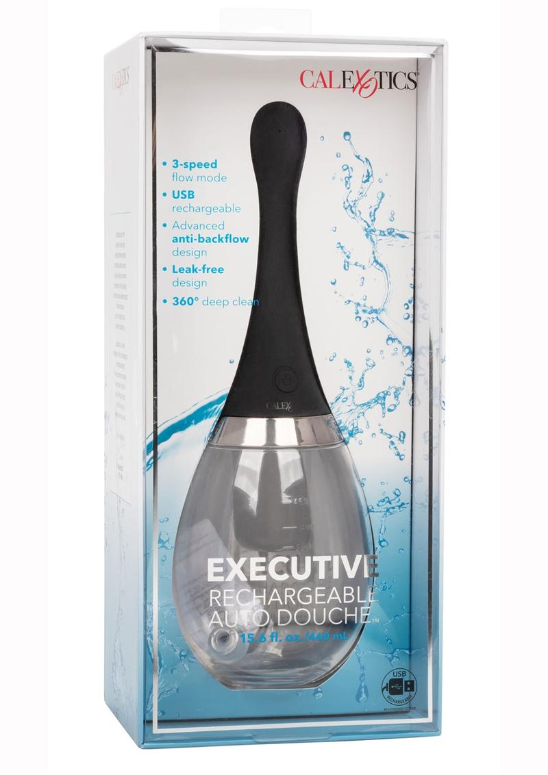 Executive Rechargeable Auto Silicone Douche - Black