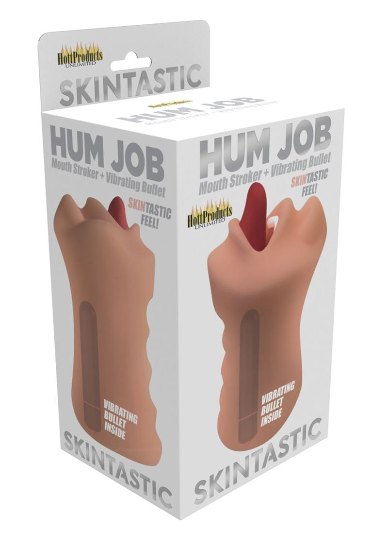 Skinsations Hum Job Vibrating Mouth Stroker - White