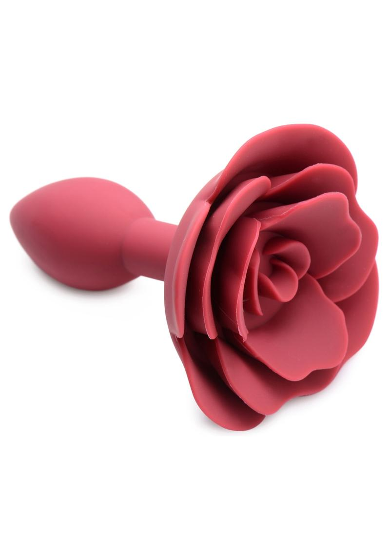 Master Series Booty Bloom Silicone Rose Anal Plug - Red