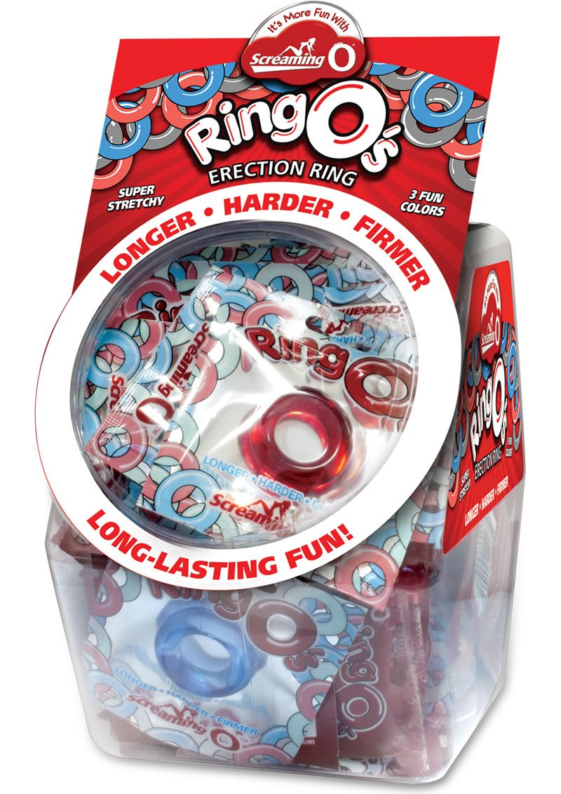 Ring O Erection Cockrings Waterproof Assorted Colors 36 Each In Candy Bowl Display