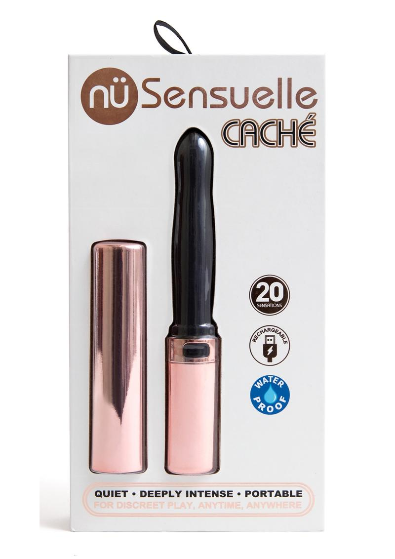 Sensuelle Cache 20 Function Silicone Rechargeable Covered Vibe - Rose Gold