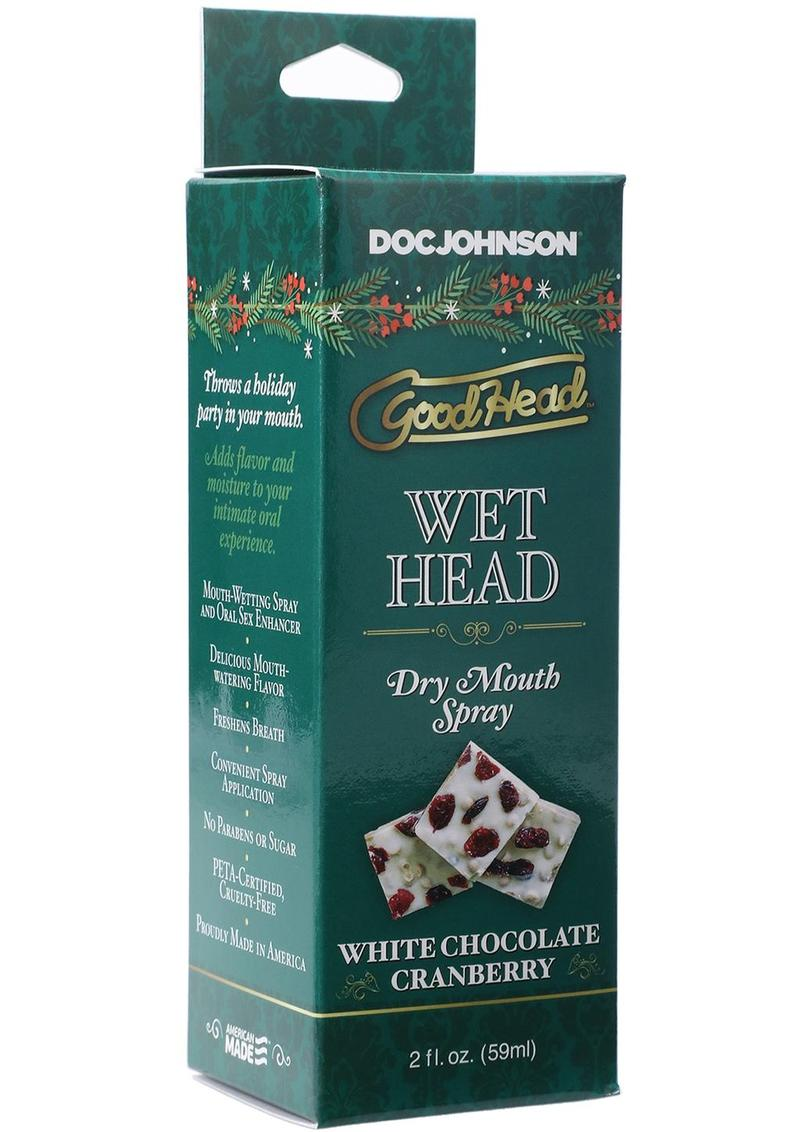 GoodHead Holiday Wet Head Dry Mouth Spray 2oz - White Chocolate Cranberry