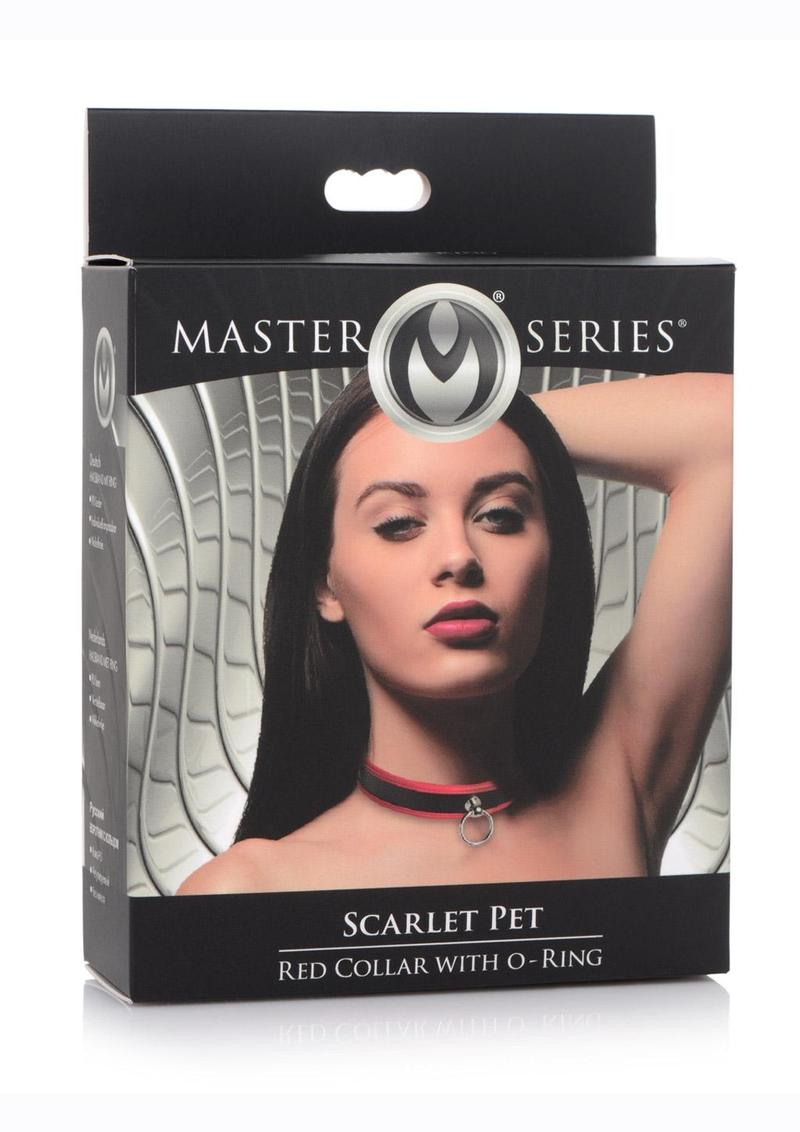 Master Series Black andamp; Red Collar With O-Ring