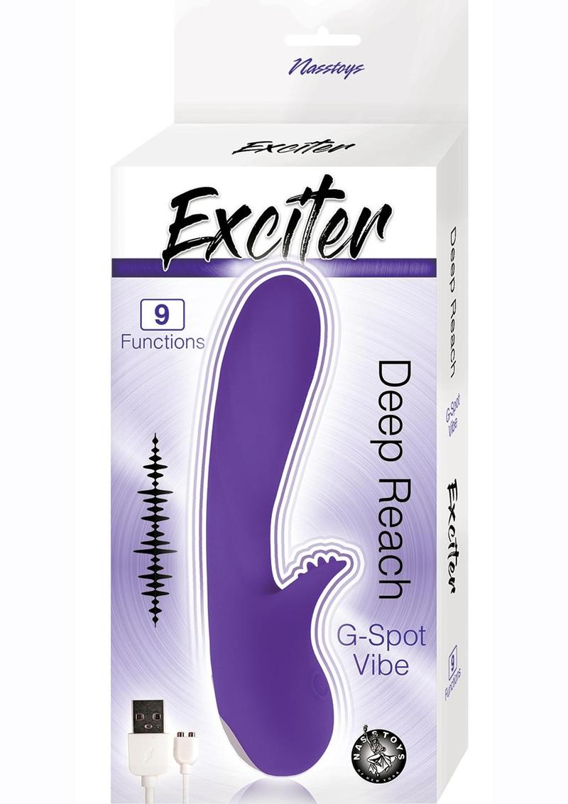 Exciter Deep Reach G-Spot Rechargeable Silicone Vibrator - Purple