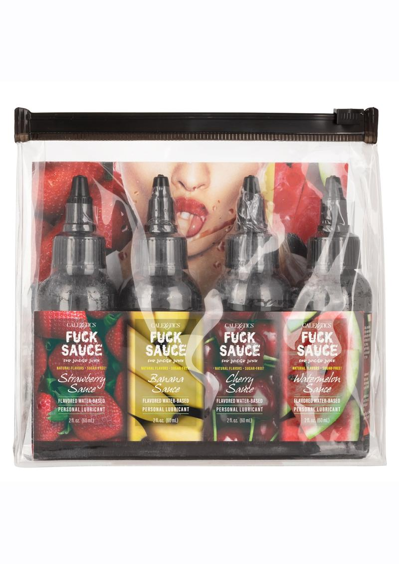 Fuck Sauce Flavored Water Based Personal Lubricant Variety 2oz (4 Pack)