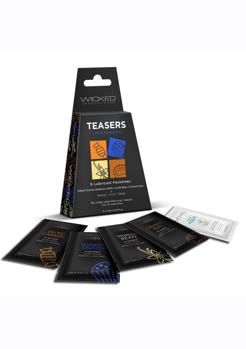 Wicked Teasers Coffee House Lubricant Packettes (8 pack) - Assorted Flavors